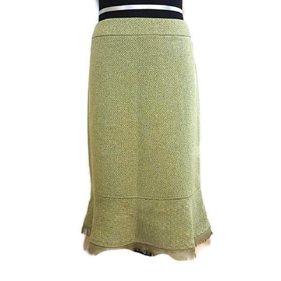 Versailles Dresses & Skirts - 🍃Versailles Green Textured Skirt